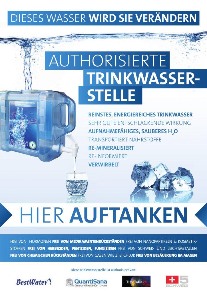 Wassertankstelle und kostenlose Trinkwasser Tankstelle in Bad Zurzach Energietreffpunkt bei Rosmarie Bochsler